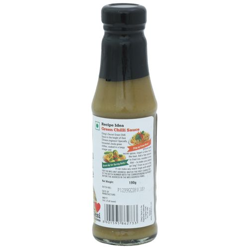 Chings Green Chilly Sauce, 190 g Bottle