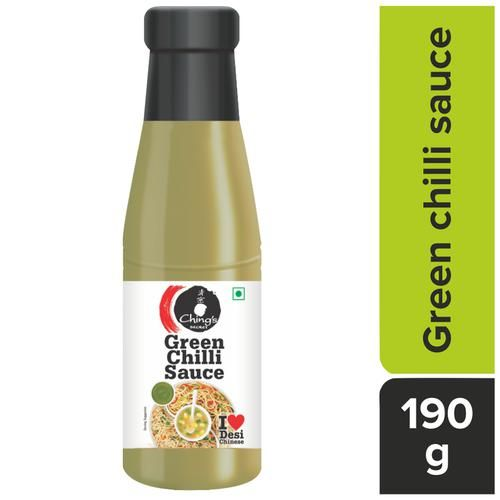 Chings Secret Green Chilli Sauce, 190 g Bottle