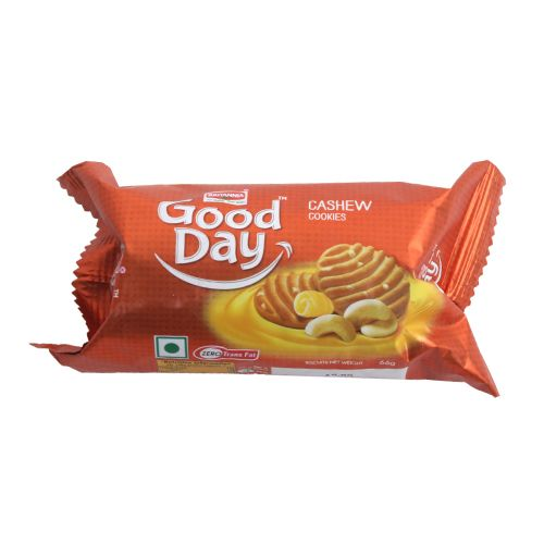 Britannia Good Day Cookies - Rich Cashew, 58 g Pouch