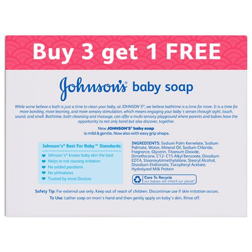 Johnson & Johnson Baby Soap, 150 g Buy 3 Get 1 Free