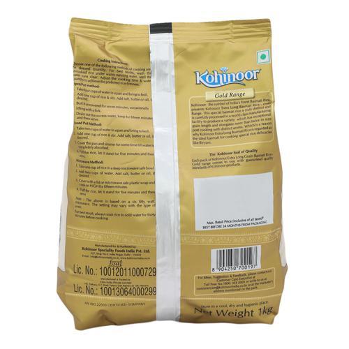 Kohinoor Basmati Rice - Extra Long, Gold, 1 kg