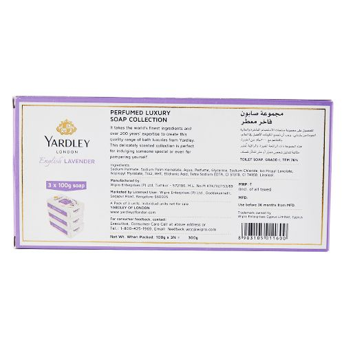 Yardley London English Lavendar Soap - Tripack, 100 g Pack of 3