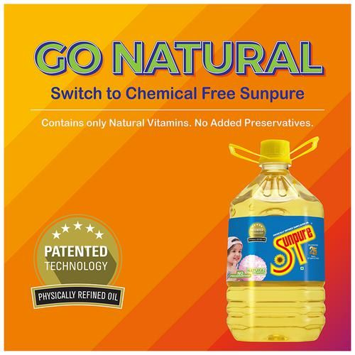 Buy Sunpure Refined Sunflower Oil 5 Ltr Can Online At Best ...