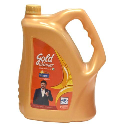 Buy Gold Winner Refined Sunflower Oil 5 Ltr Can Online At ...