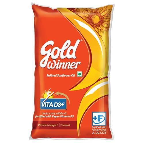 Gold Winner Refined - Sunflower Oil, 1 L Pouch