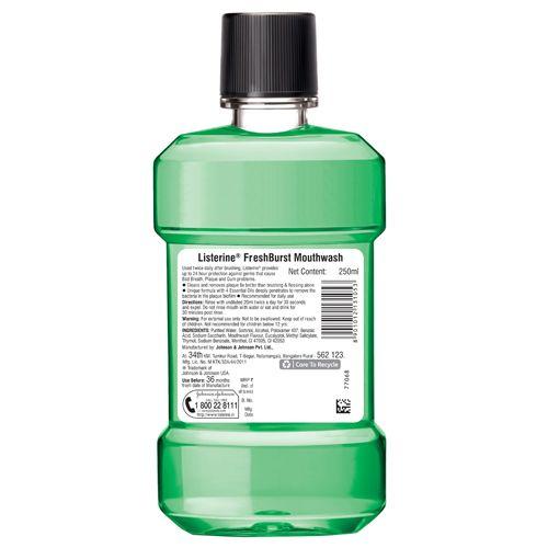 Listerine Mouthwash - Freshburst, 250 ml