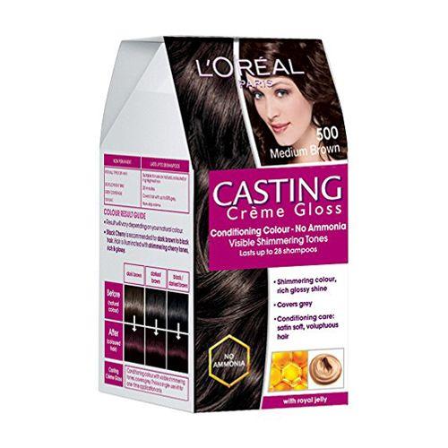 Loreal Paris Loreal Paris Casting Creme Gloss Hair Colour  Medium Brown 500 87.5 gm + 72 ml, 87.5 gm + 72 ml