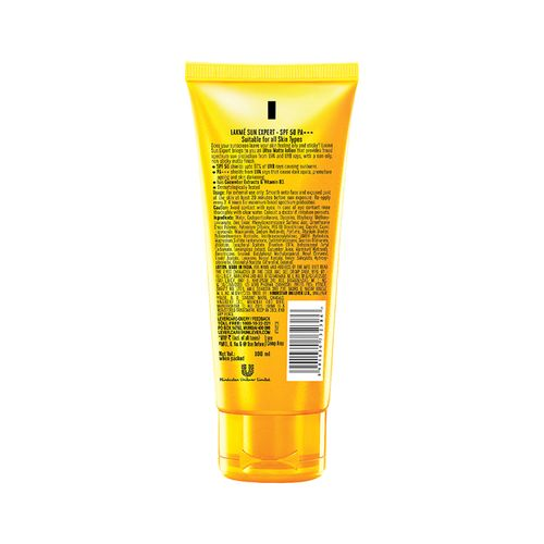 Lakme Sun Expert - SPF 50 PA+++ Ultra Matte Lotion, 100 ml Bottle