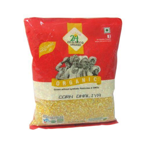 24 Mantra Organic Corn - Dhaliya, 500 g Pouch