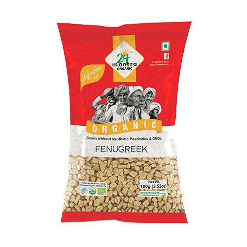 24 Mantra Organic - Fenugreek, 100 gm Pouch