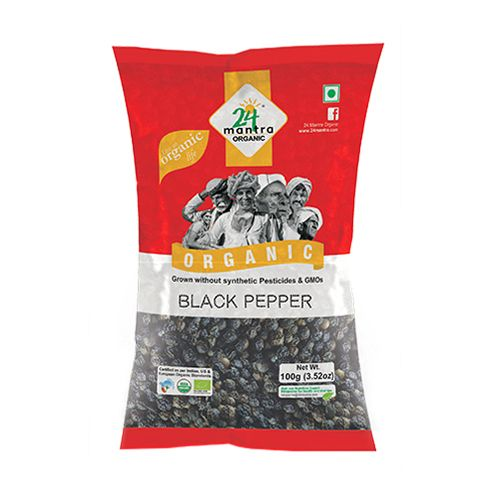 24 Mantra Organic - Black Pepper, 100 g Pouch