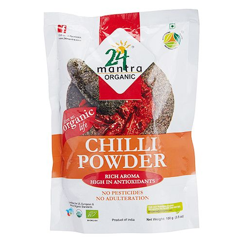 24 Mantra Organic Powder - Chilly, 100 g Pouch
