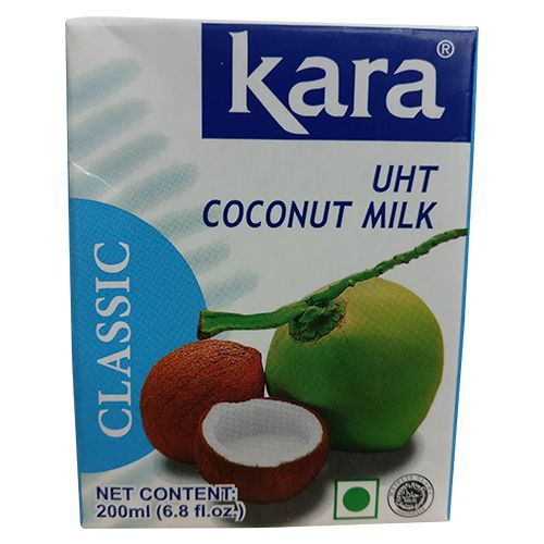 Kara Coconut Milk - UHT Classic, Imported, 200 ml Carton