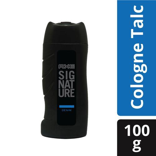 Axe Signature Denim Cologne Talc, 100 g