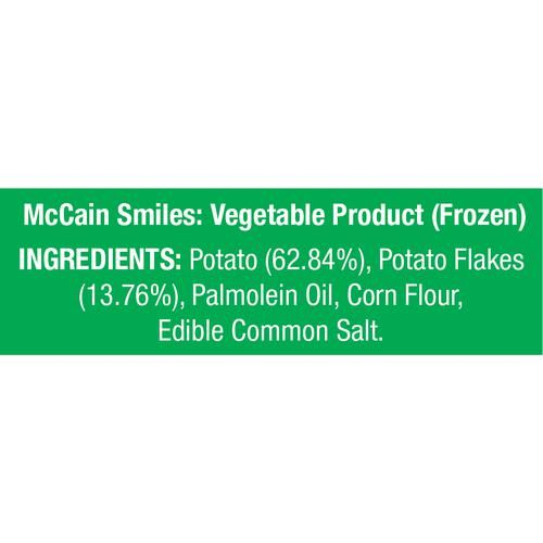 McCain Smiles - Crispy Happy Potato, 175 g Pouch