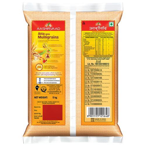 Aashirvaad Multigrains Atta, 5 kg Pouch
