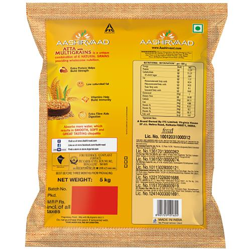 Aashirvaad Multigrains Atta, 5 kg Pouch