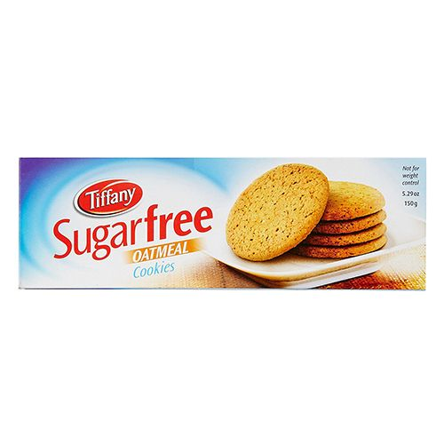 Tiffany Sugarfree Cookies - Oatmeal, 150 gm