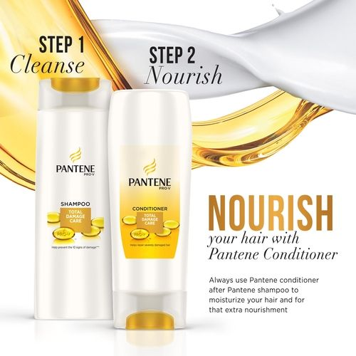 Pantene Shampoo - Total Damage Care, 340 ml