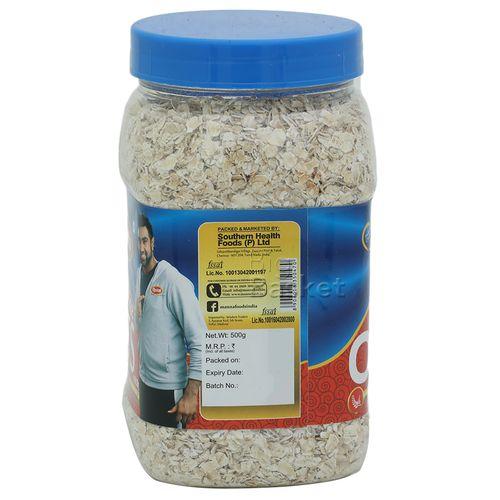 Manna  Oats - White Hi Fibre, 500 g Jar