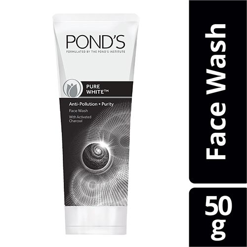 Ponds Pure White Anti Pollution Purity Face Wash, 50 gm