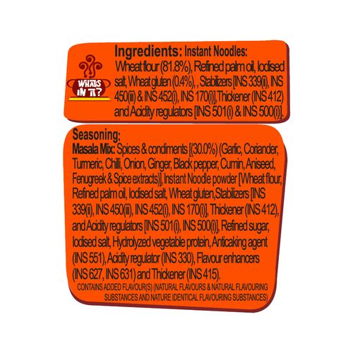 Sunfeast Yippee Noodles - Classic Masala, 70 g Pouch