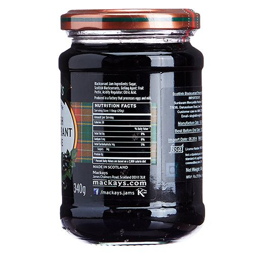Mackays Preserve - Blackcurrant (Scottish), 340 g Jar