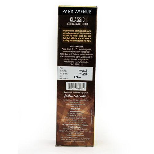 Park avenue Lather Shaving Cream - Classic, 84 gm Get 40% Free