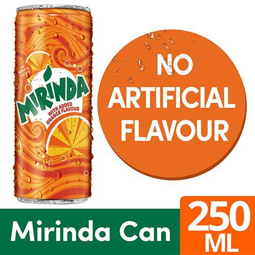 Mirinda Soft Drink - Orange, 250 ml Can