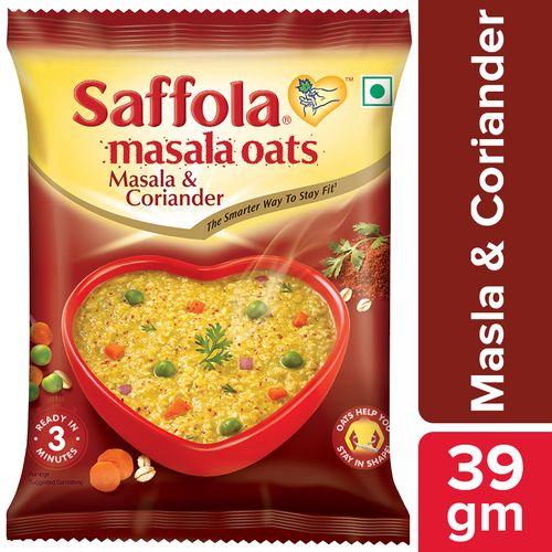 Saffola Oats - Masala & Coriander, 39 g Pouch