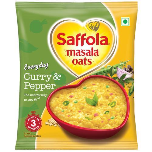 Saffola Masala Oats - Curry & Pepper, 38 g