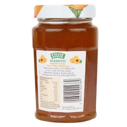 Stute  Diabetic Jam - Apricot Extra, 430 gm Jar
