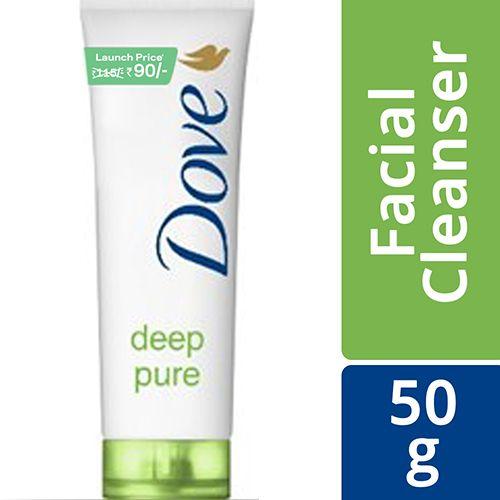 Dove Face Wash - Deep Pure, 50 g Tube