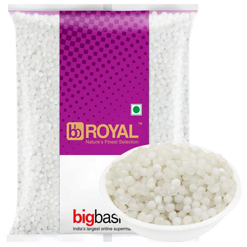 BB Royal Sabudana - White, Medium, 500 g Pouch