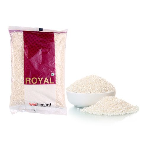 BB Royal Sabudana -White, Small, 1 kg Pouch