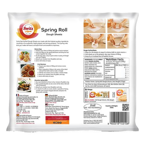 """Switz Spring Roll Sheets - 6""""x6"""", 40 pcs Pouch"""