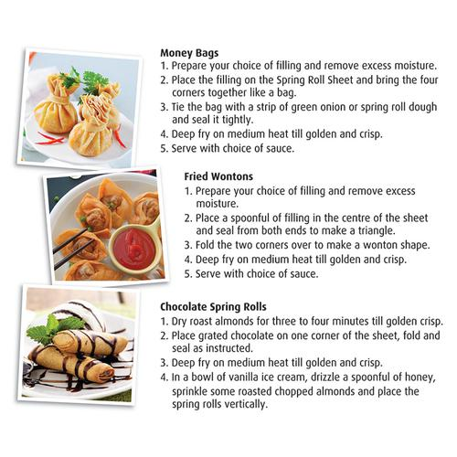 "Switz Spring Roll Sheets - 6""x6"", 40 pcs Pouch"
