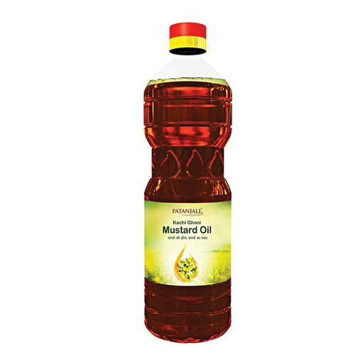 Patanjali Mustard Oil, 1 L Bottle