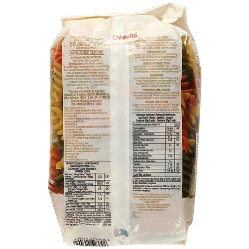 Colavita Tricolour Eliche Italian Decorative Sahpe Pasta - # 340, 500 g Pouch