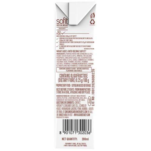 Sofit  Milk - Soya, Chocolate, 200 ml Carton