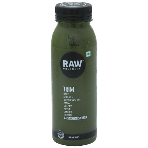 Raw Pressery Trim - 100% Natural, Cold Pressed Vegetable Juice, 250 ml Drop That Weight. Do The Light Thing.