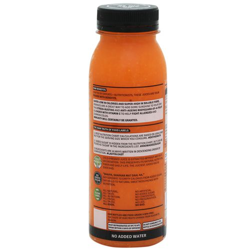 Raw Pressery Shield - 100% Natural, Cold Pressed Juice With Carrot, Ginger & Orange, 250 ml Bottle