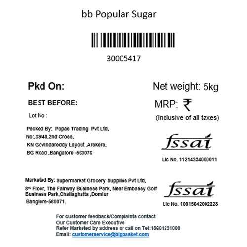 bb Popular Sugar, 5 kg