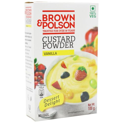 Brown & Polson Custard Powder - Vanilla flavour, 100 g Carton