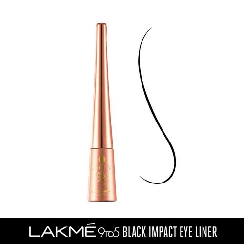 Lakme 9 To 5 Black Impact Eye Liner, 3.5 ml