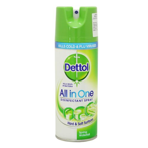 Dettol All-In-One Spring Waterfall Disinfectant Spray - Imported, 400 ml
