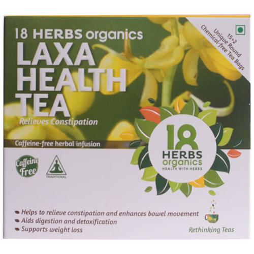 18 Herbs Organic Tea - Senna, Laxa Health, 17 bags