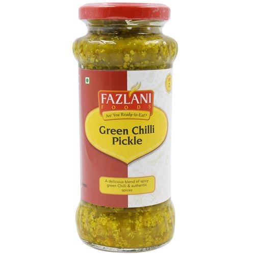 Fazlani Pickle - Green Chilly, 300 g Bottle