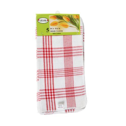 Blor Kitchen Towel - Tulips Red, 5 pcs