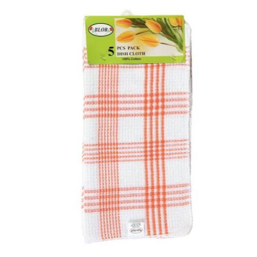 Blor Kitchen Towel - Tulips Orange, 5 pcs